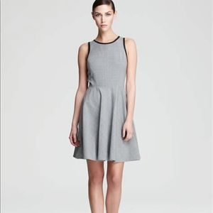 Rebecca Taylor Fit and Flare Leather Trip Dress 2